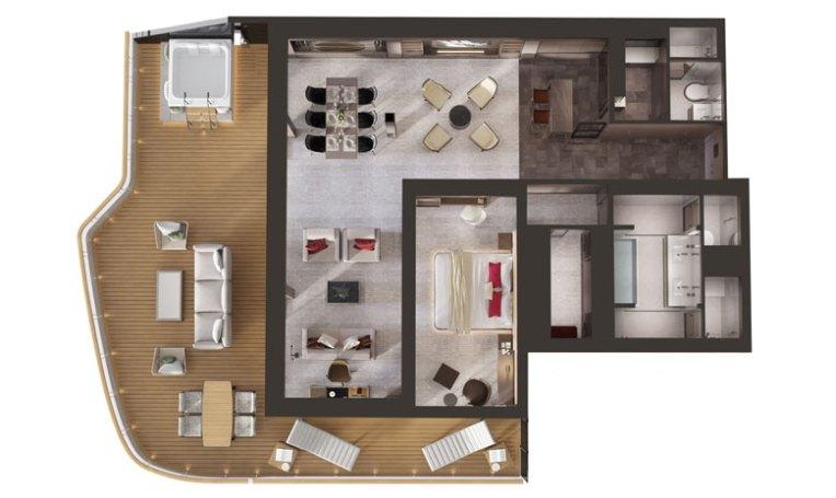Ritz-Carlton Owner's Suite Floor Plan