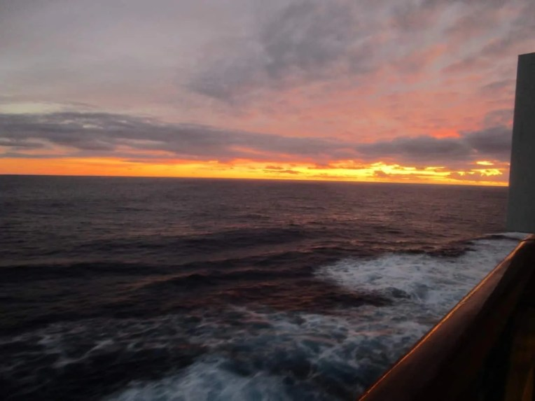 Sunset photo taken on the Carnival Miracle in 2014