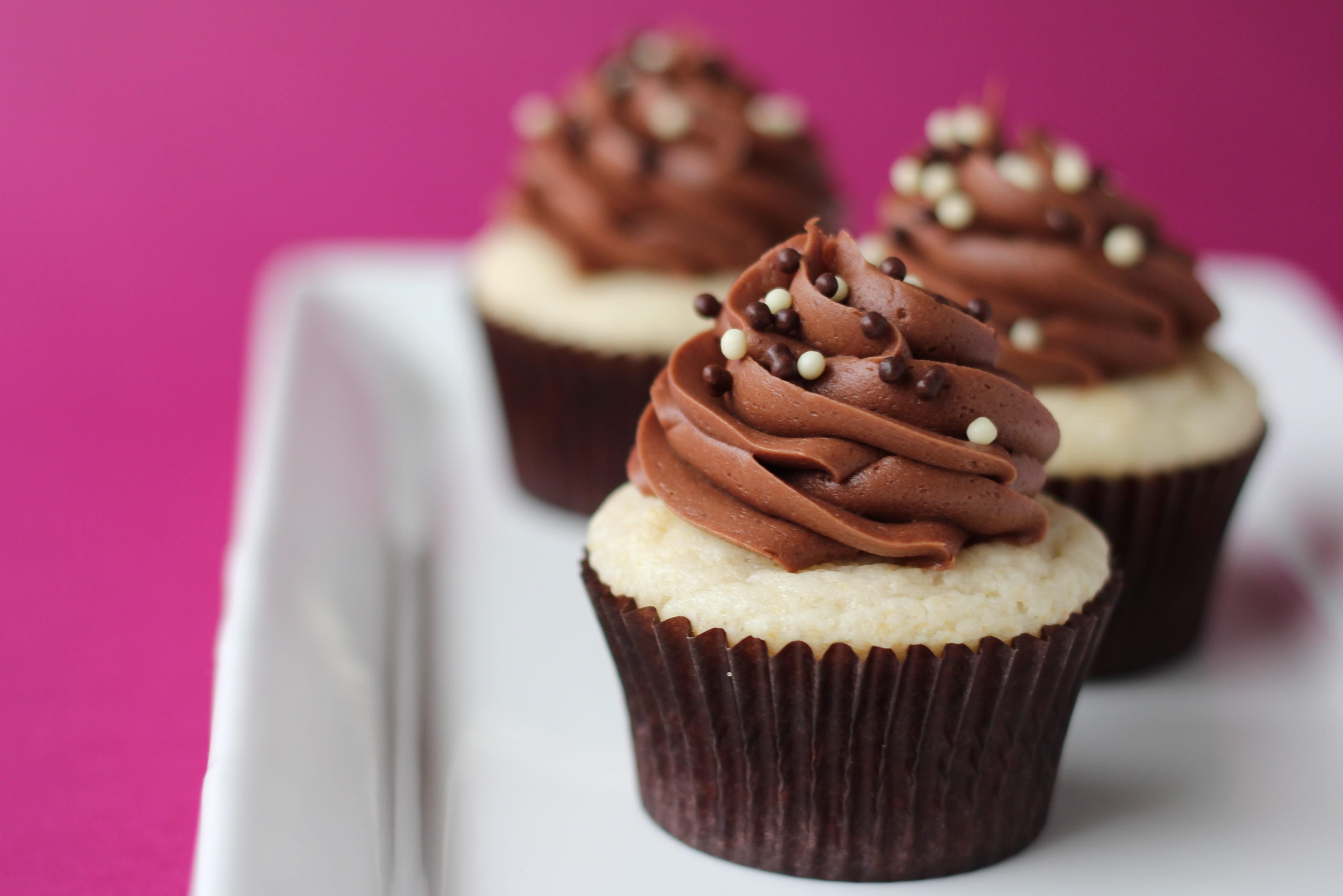 Classic Chocolate Vanilla Cupcakes