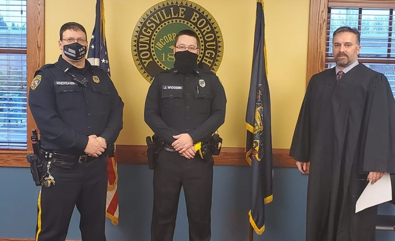 Wooding Sworn in as Part-time Youngsville Police Officer