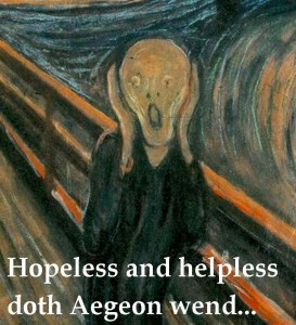 Hopeless and helpless doth Aegeon wend But to procrastinate his lifeless end