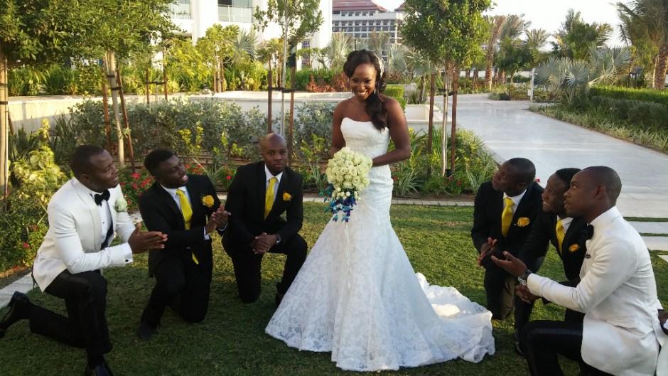 wedding nigerian bride groom waldorf