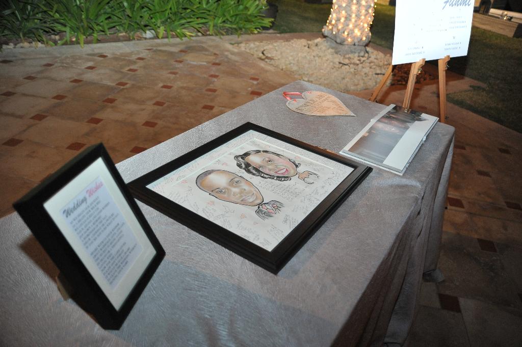 wedding signing table nigerian dubai