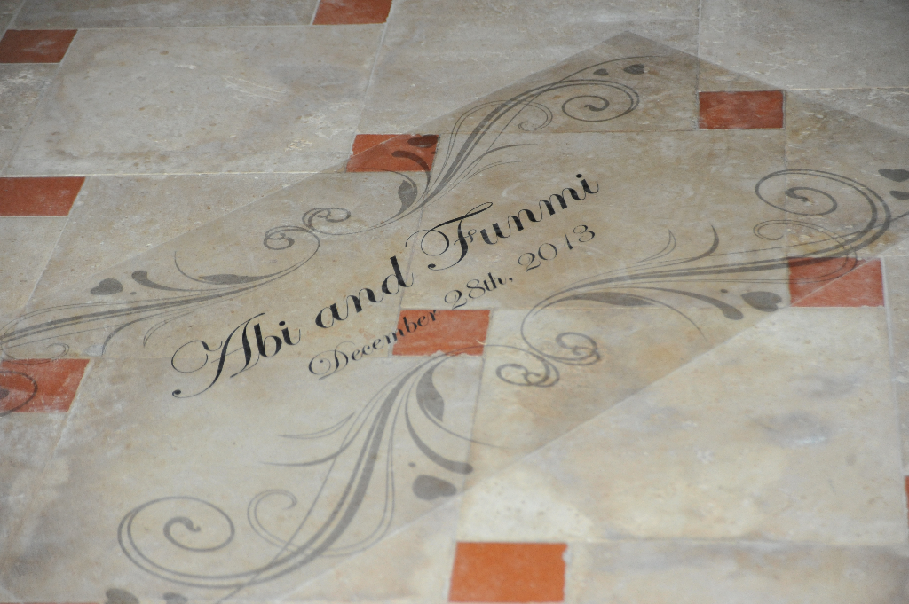 floor decal wedding dubai nigerian