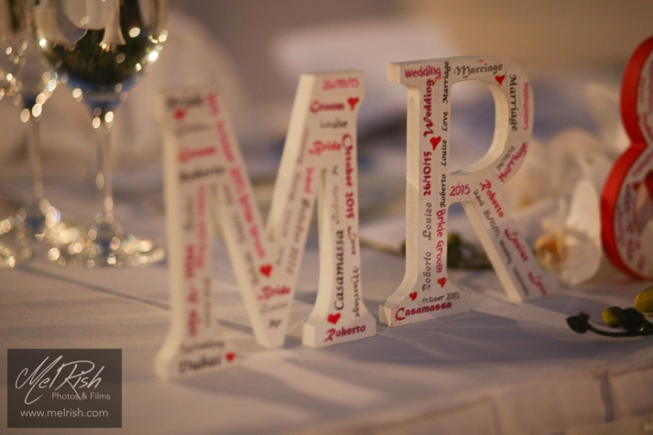 mr mrs decor wedding