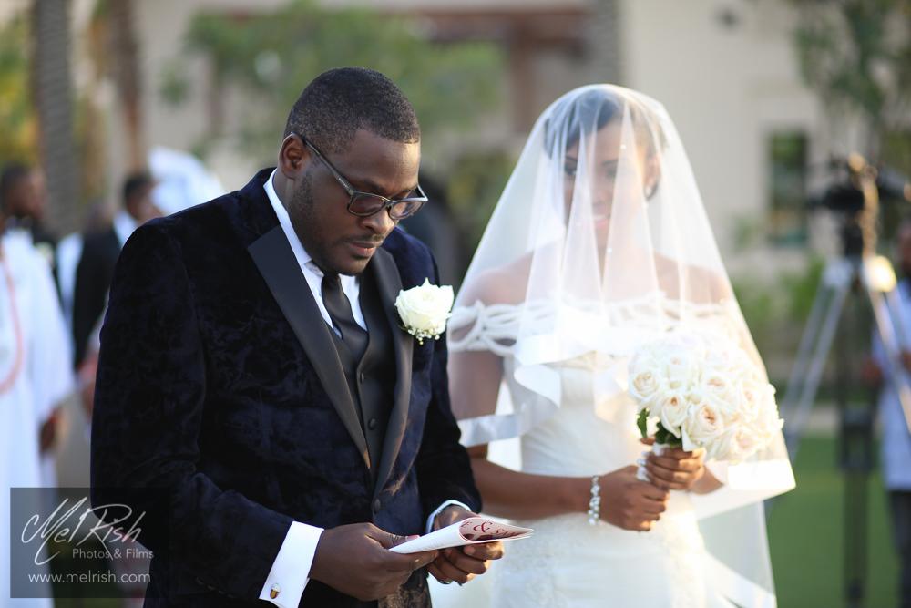 bride groom wedding dubai four seasons dress nigerian