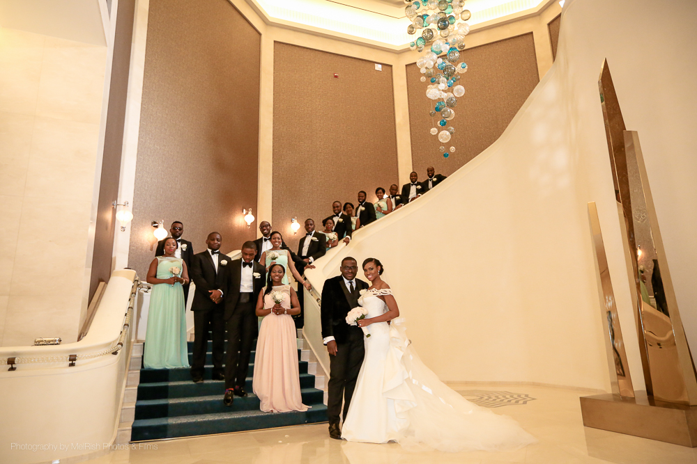 bridal party wedding nigerian dubai four seasons planner