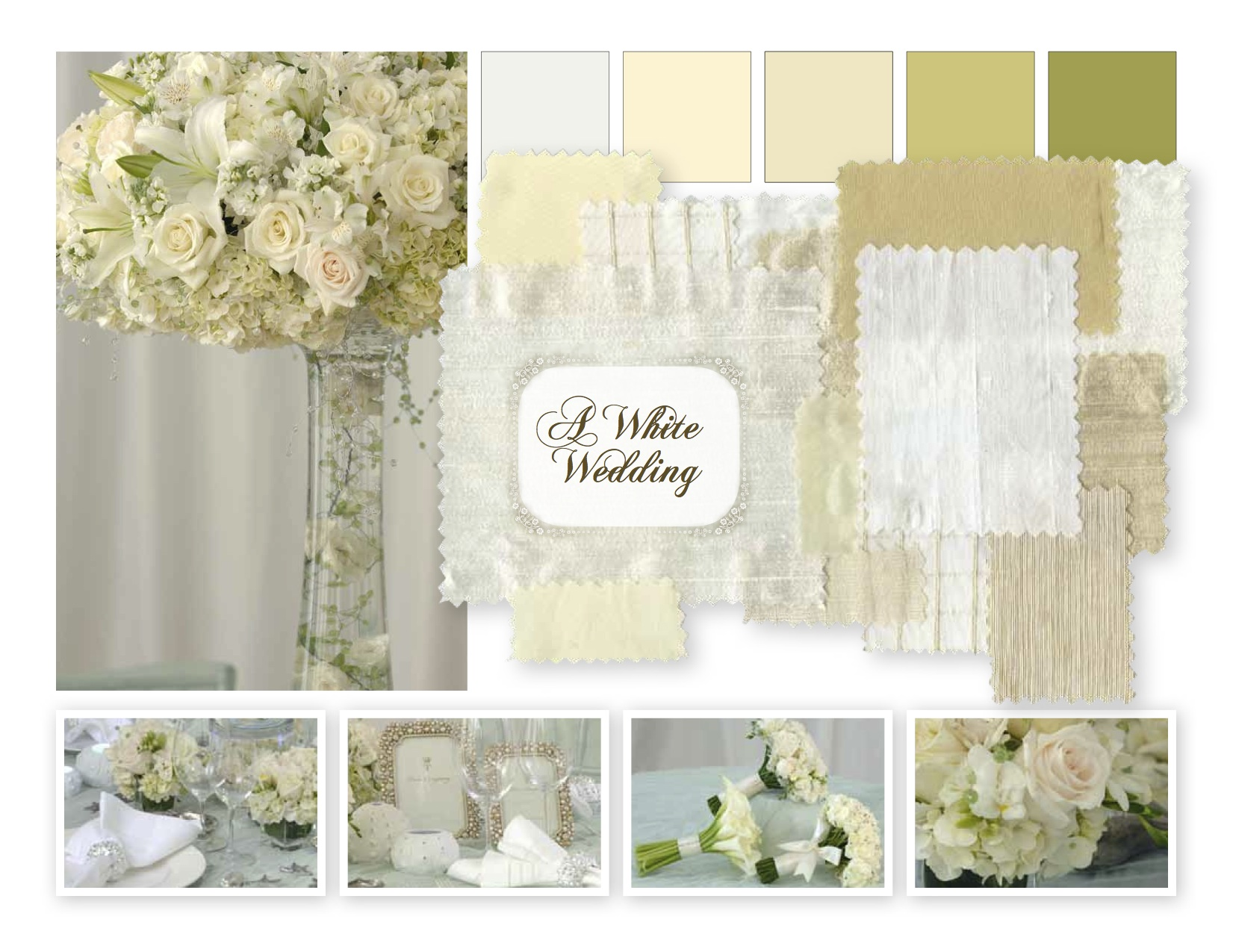 Fabulous 'White Wedding' Mood Board By Preston Bailey