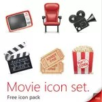 Free Movie Icon Set - PSD Source, PNG, JPG