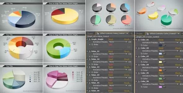 Graphs 3D Cylinder Video Infographics