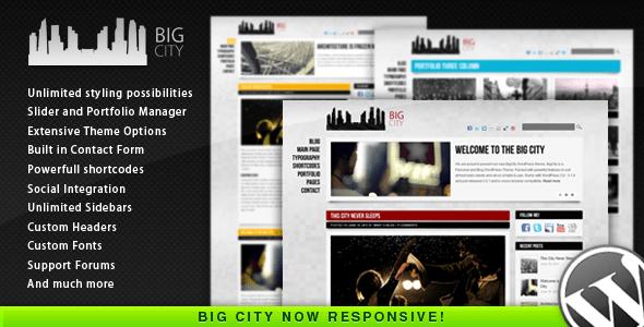 Big City - Personal and Blog WordPress theme