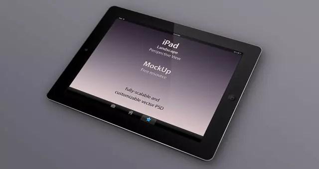 Free Psd iPad Perspective Mockup