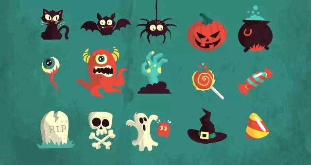 005-happy-halloween-terror-elements-vector-flat-scary-hollydays