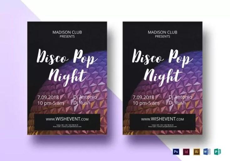 disco pop flyer