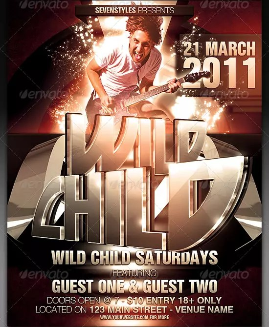WildChild Poster Flyer Template