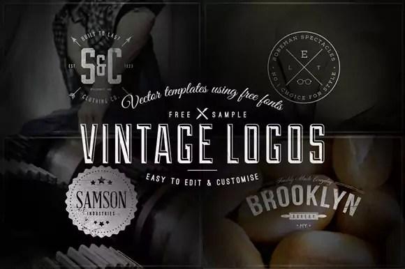 30 Free Vintage Logo Templates