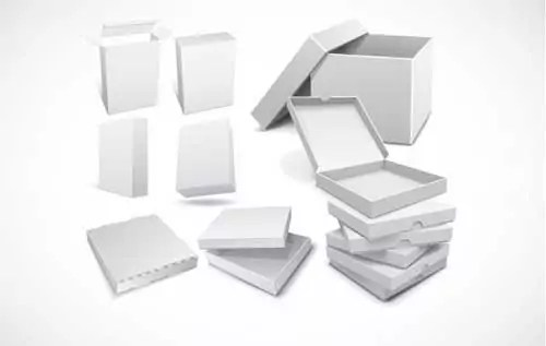 free blank boxes packaging design templates