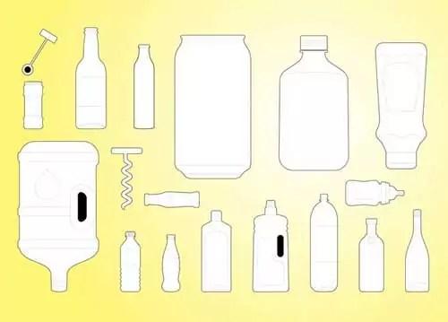 free blank bottles packaging design templates