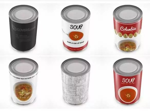 soup tin can psd packaging mock up template