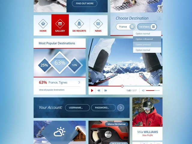 Snowflakes – Free Winter UI Kit