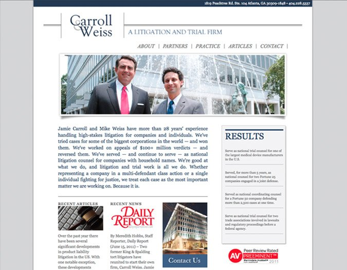 Portfolio Image of Carroll&Weiss