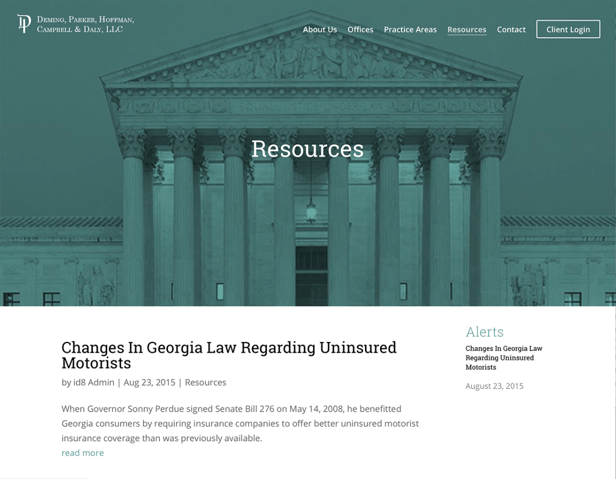 Portfolio Screenshot of Deminglaw Resources