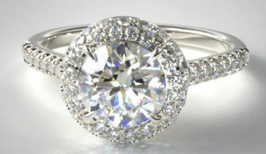 Halo-diamond-setting