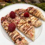 raspberry flatbreads