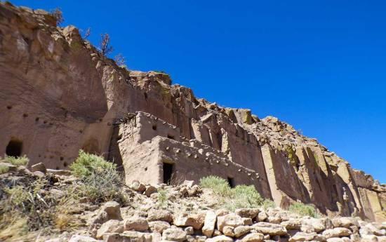 Cliff Dwellings Near Santa Fe New Mexico