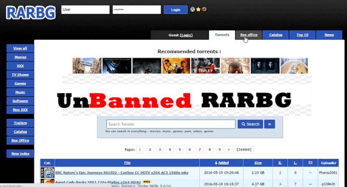 Unblocking RARBG