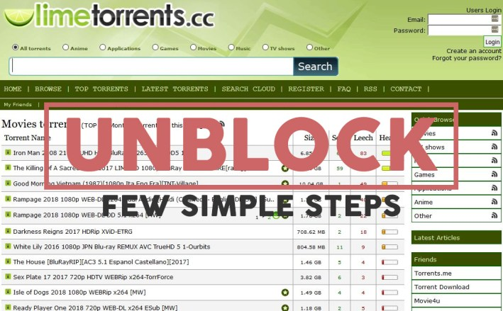 limetorrents unblock