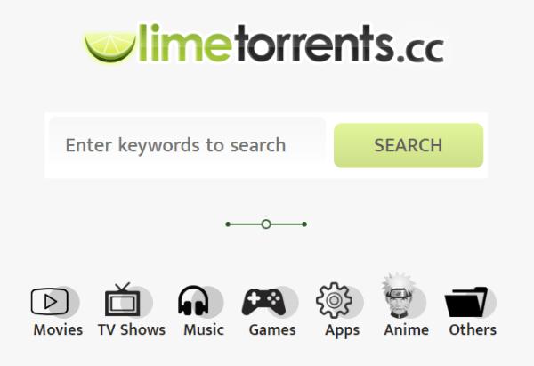 limetorrents categories