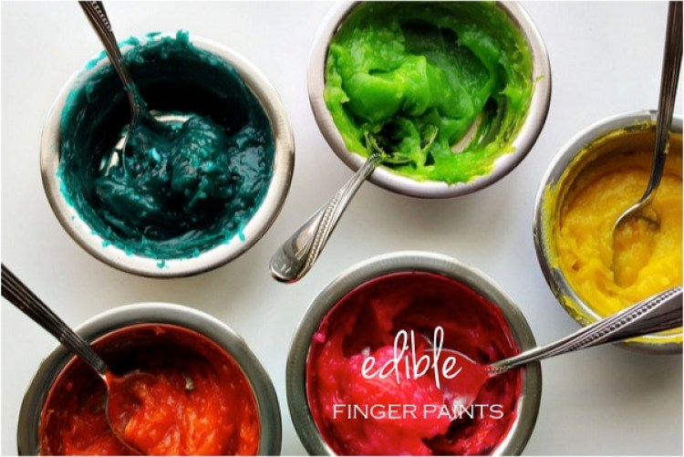 """DIY edible finger paints"""