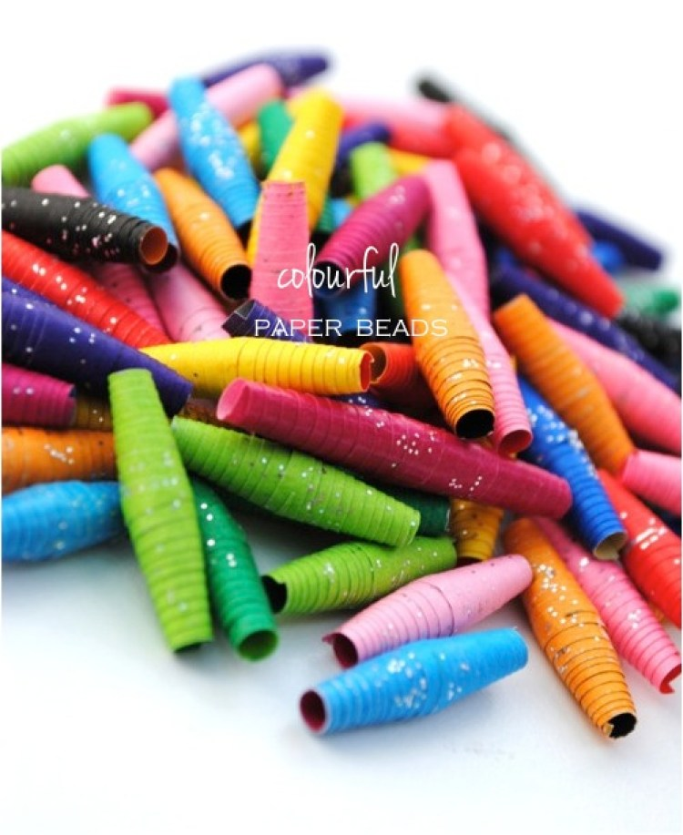 """""""colourful paper beads kids DIY"""""""