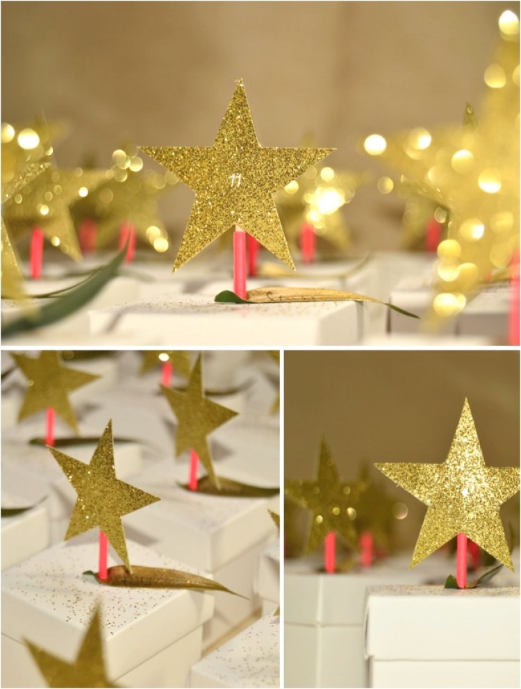 """DIY gold start advent calendar"""
