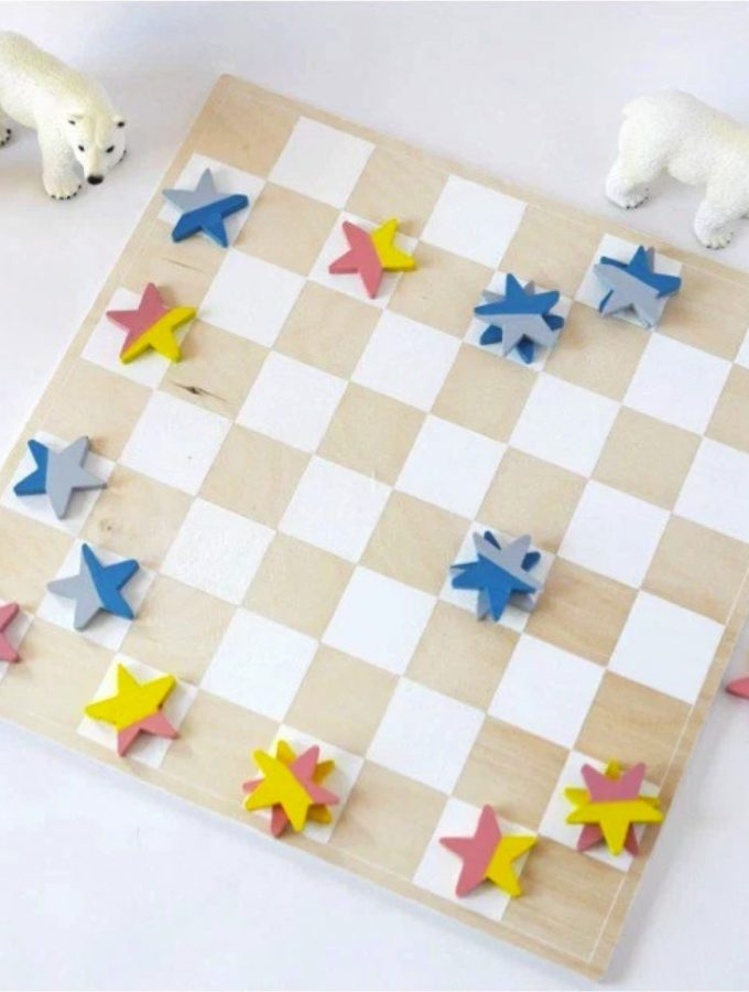How to make a checkers board game