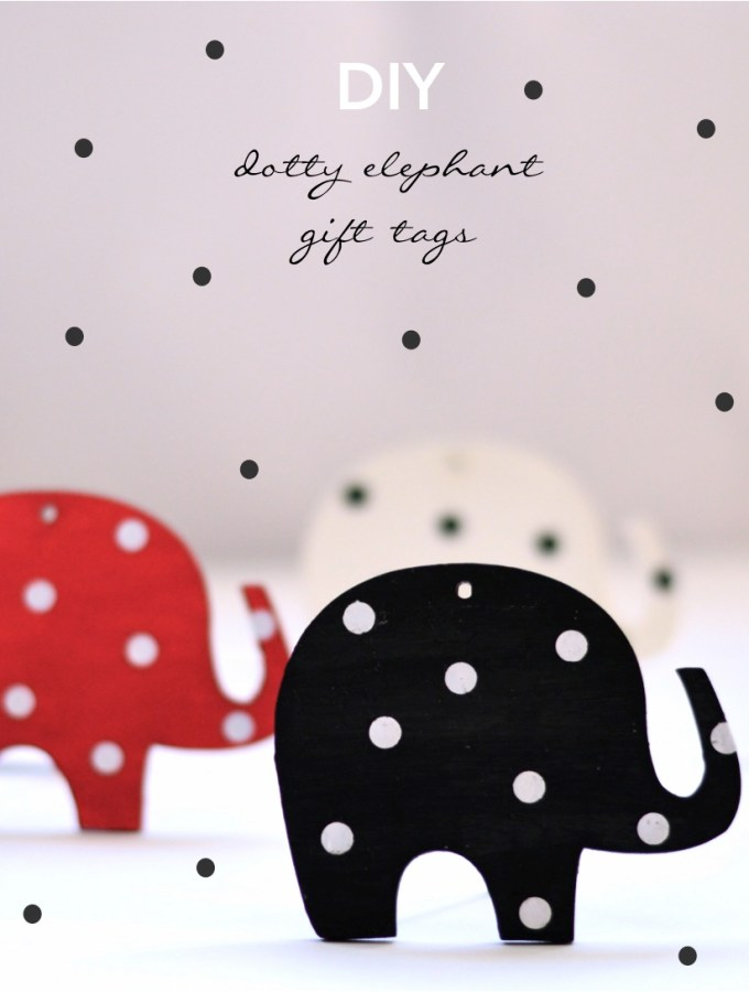 DIY dotty elephant gift tags