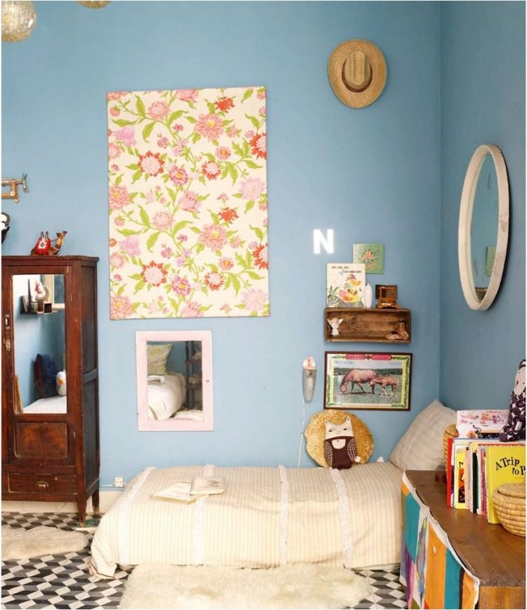 """ideas for using wallpaper as wall art"""