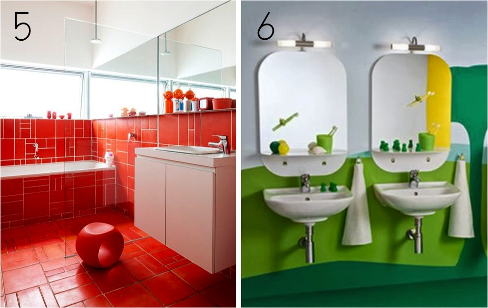 Colourful Kids Bathroom Ideas
