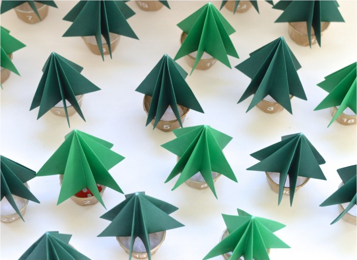 """DIY origami advent calendar"""