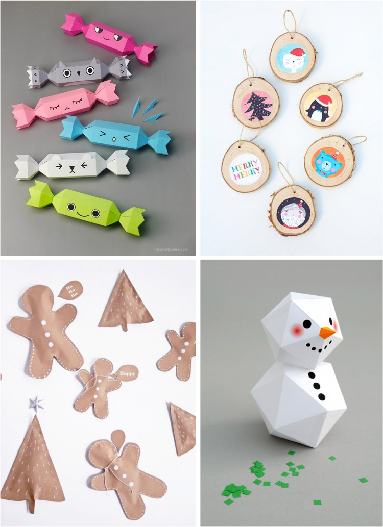 """four easy Christmas crafts for kids"""