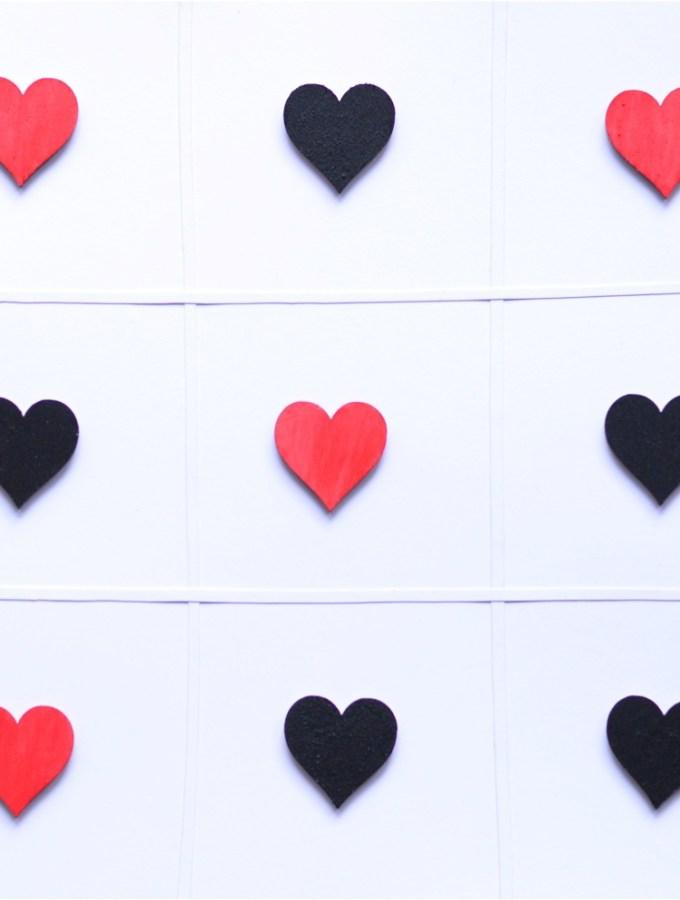 DIY Valentines Tic Tac Toe game