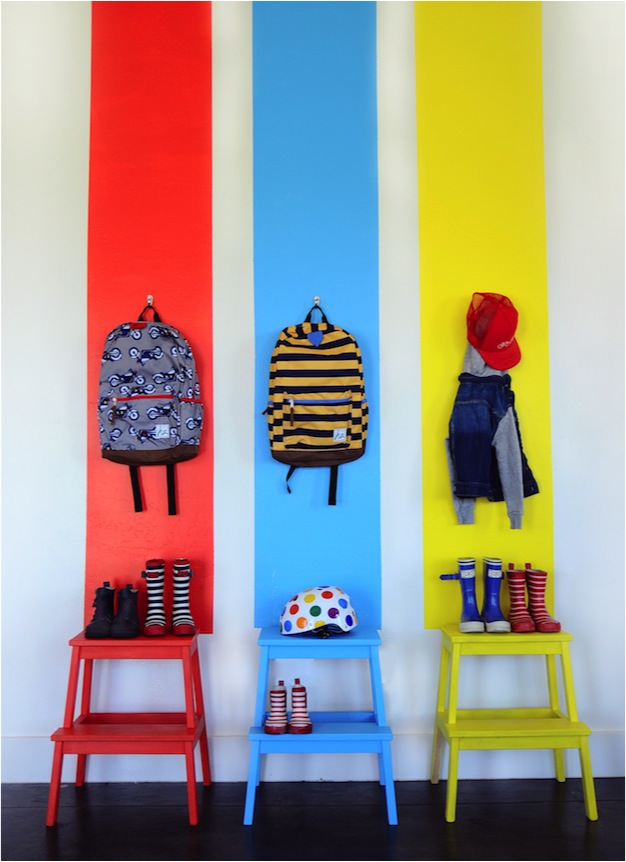 Get organised: A bright idea for a tidy entrance hall