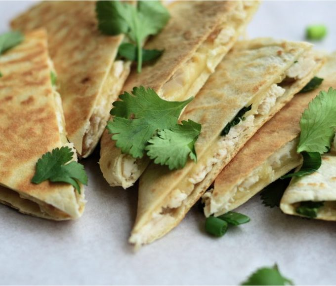 A quick & easy family dinner: Cheesy quesadillas