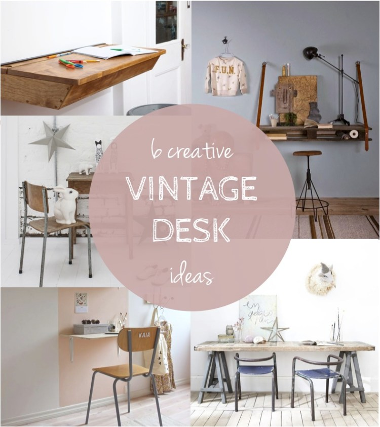 vintage school desk ideas kids room