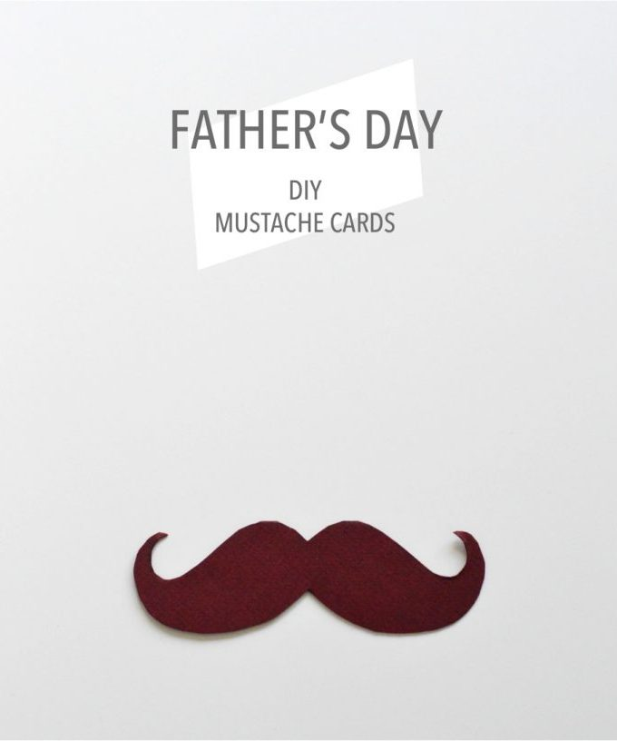 Free printable Father's Day mustache cards