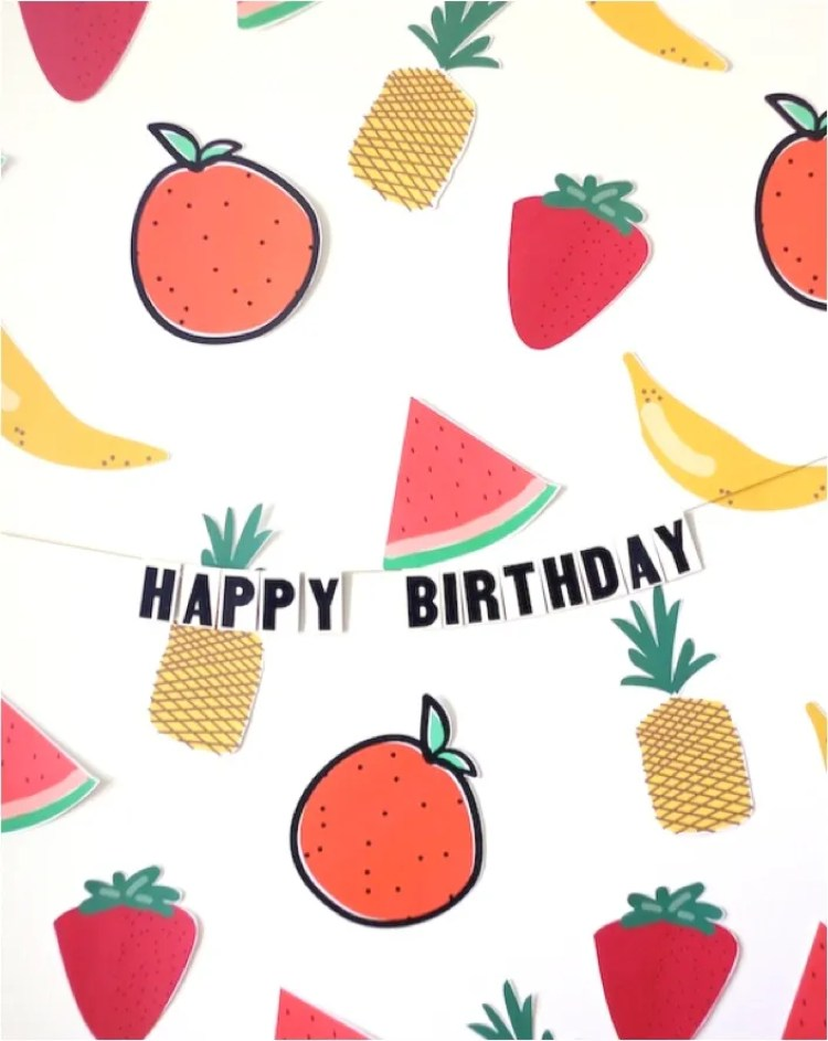 fruit themed party printables