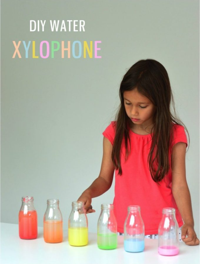 A quick kid craft: Make a water xylophone