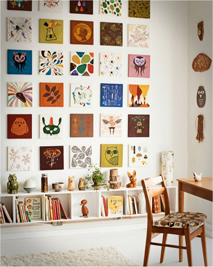 colorful gallery wall ideas