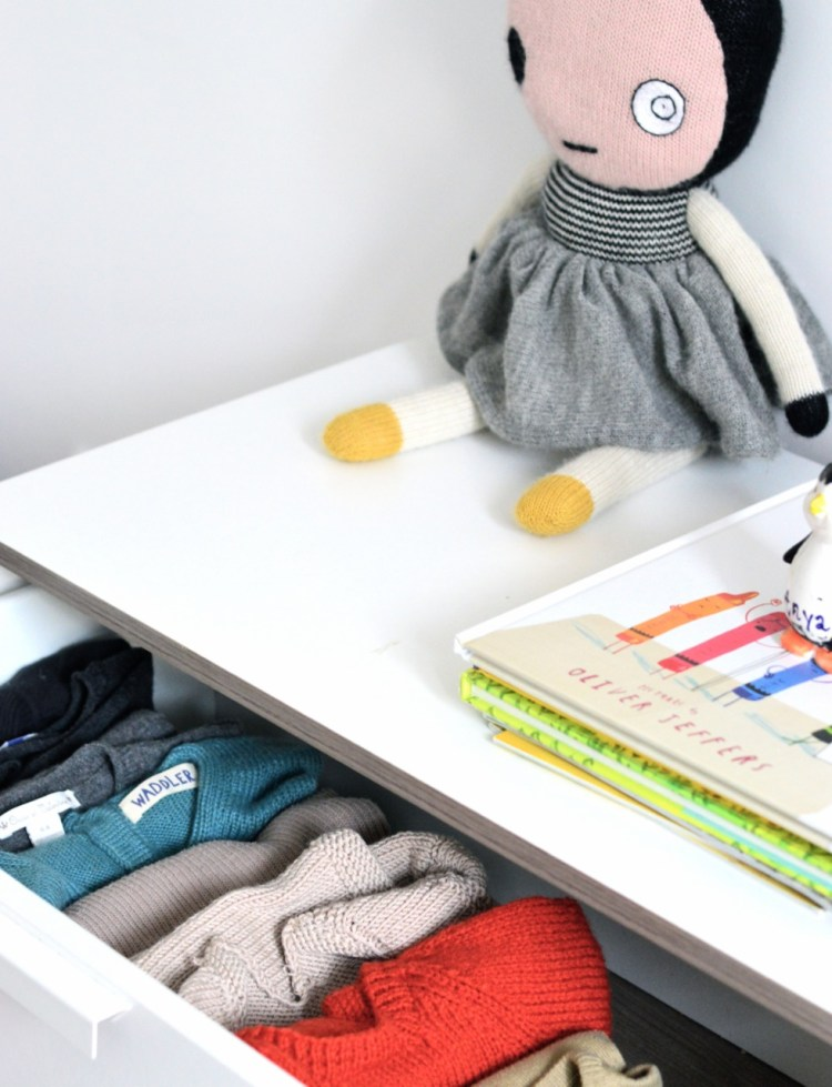 a clever clothes storage idea